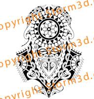 polynesian tattoos with masks sleeve