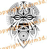 polynesian-tiki-face-mask-design-for-shoulder-calf-or-upperback