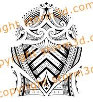 shoulder tattoo samoan style tribal