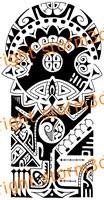 the rock polynesian tattoo pattern
