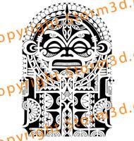 tattoo-tribal-polynesia-tatau-mask-sleeve-ink-black