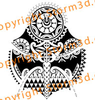 polynesian-sleeve-tattoo-mask-tiki-triangle