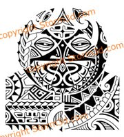 tribal mask polynesian tattoos for sale