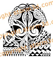 tribal tattoo polynesia gekko mask design