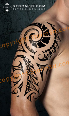 shoulder-maori-tribal-design-photos