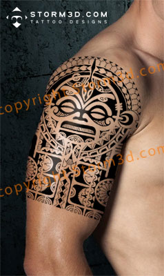 digital-halfsleeve-polynesian-tattoo