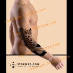 elbow-sleeve-tattoo-maori-polynesia-tatau-art