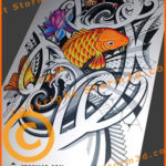 koifish-design-tribal-orange-color-polynesian-art-maori-tattoos