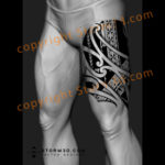 maori-marquesas-island-tattoo-upper-leg-design