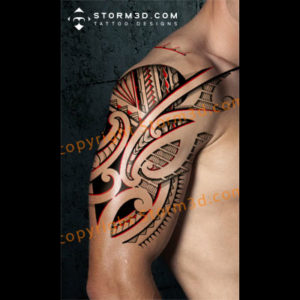 shoulder-heavy-red-design-maori-tribal-drawing