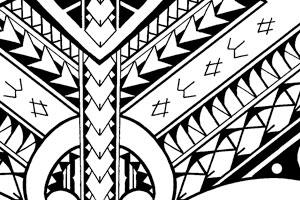 Samoan Tattoo With Fish And Birds Symbols