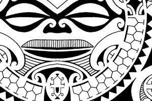 tribal-polynesian-halfsleeve-flash-tattoos-for-sale