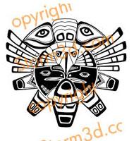 Haida-eagle-tattoo--indians-tiger