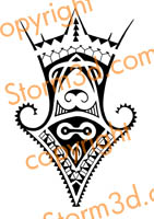 mixed maori tribal tattou korus