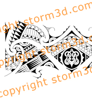 tribal-armband-designs-with-turtle-koru-shapes-drawn