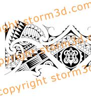 tribal-armband-designs-with-turtle-koru-shapes-drawn