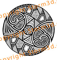 tribal-tattoo-rounded-badge-patterns-shoulder-back