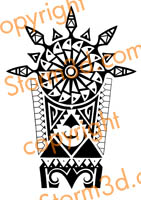 tribals tatoo original art ink polynesian hawaii