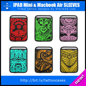 Ipad mini sleeves Polynesian maori tribal artist drawings